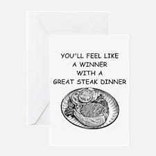 steak Greeting Card