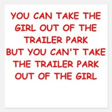 trailer park Invitations