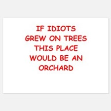 idiots 5x7 Flat Cards