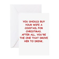 cocktail for christmas Greeting Card