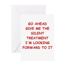 SILENT Greeting Card