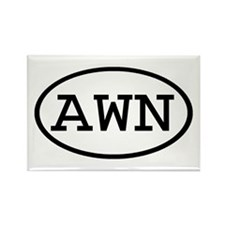 AWN Oval Rectangle Magnet