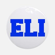 ELI-fresh blue Ornament (Round)