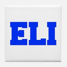 ELI-fresh blue Tile Coaster