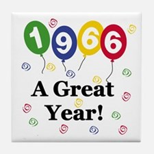 1966 A Great Year Tile Coaster
