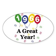 1966 A Great Year Oval Decal