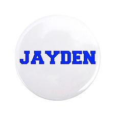 """JAYDEN-fresh blue 3.5"""" Button"""
