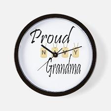 Camo Navy Grandma Wall Clock