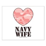 Navy Wife Pink Camo Heart Small Poster