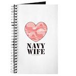 Navy Wife Pink Camo Heart Journal