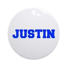 JUSTIN-fresh blue Ornament (Round)