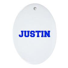 JUSTIN-fresh blue Ornament (Oval)