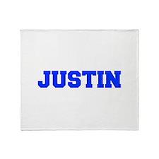 JUSTIN-fresh blue Throw Blanket