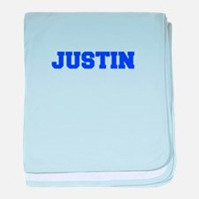JUSTIN-fresh blue baby blanket