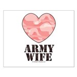 Army Wife Pink Camo Heart Small Poster
