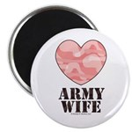 Army Wife Pink Camo Heart 2.25
