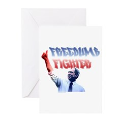 Freedumb Fighter Bush Greeting Cards (Pk of 10