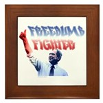 Freedumb Fighter Bush Framed Tile
