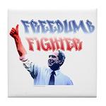 Freedumb Fighter Bush Tile Coaster