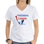 Freedumb Fighter Bush Women's V-Neck T-Shirt