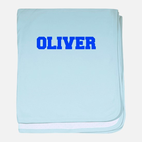 OLIVER-fresh blue baby blanket