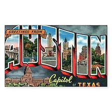 City Of Austin Postcard Rectangle Decal