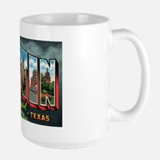 City Of Austin Postcard Large Mug