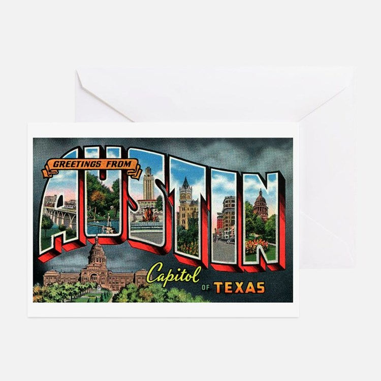 City Of Austin Postcard Greeting Cards (Package of