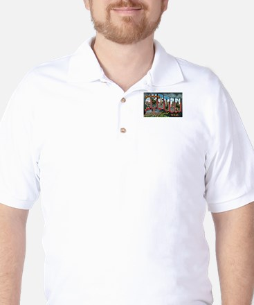 City Of Austin Postcard Golf Shirt