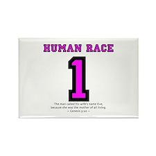 1 Human Race (PkT) - Rectangle Magnet