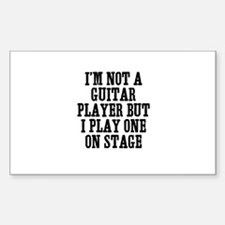 I'm not a guitar player but I Sticker (Rectangular