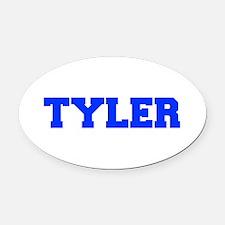 TYLER-fresh blue Oval Car Magnet