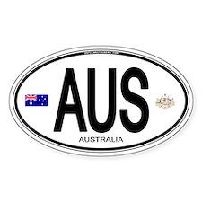 Australia Euro Oval Oval Decal