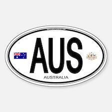 Australia Euro Oval Oval Stickers