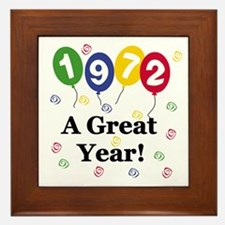 1972 A Great Year Framed Tile
