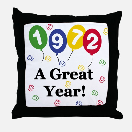 1972 A Great Year Throw Pillow