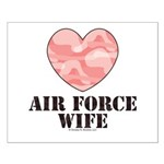 Air Force Wife Camo Heart Small Poster