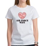Air Force Wife Camo Heart Women's T-Shirt