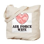 Air Force Wife Camo Heart Tote Bag