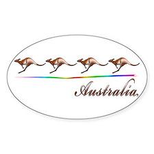 Australia Oval Stickers