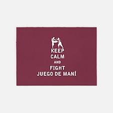 Keep Calm and Fight Juego de Mani 5'x7'Area Rug