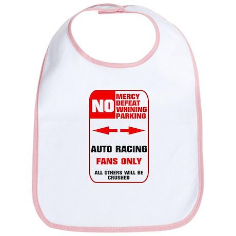 NO PARKING Auto Racing Sign Bib