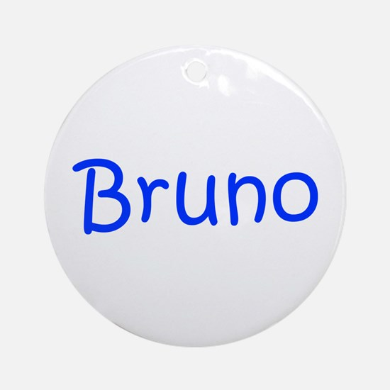 Bruno-kri blue Ornament (Round)