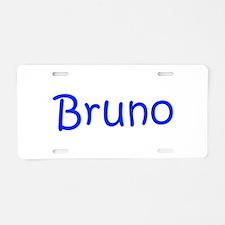 Bruno-kri blue Aluminum License Plate