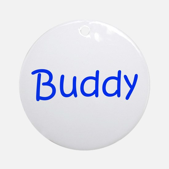 Buddy-kri blue Ornament (Round)