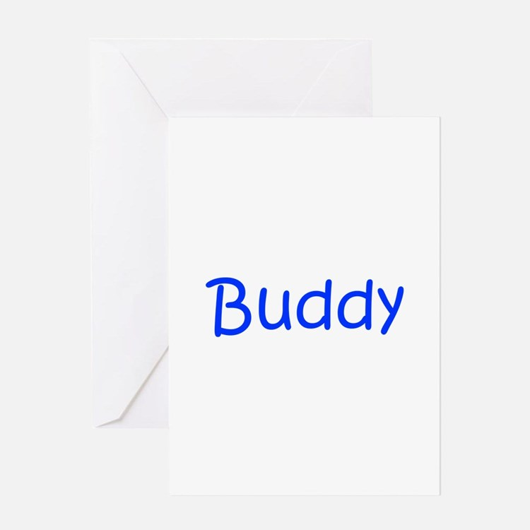Buddy-kri blue Greeting Cards