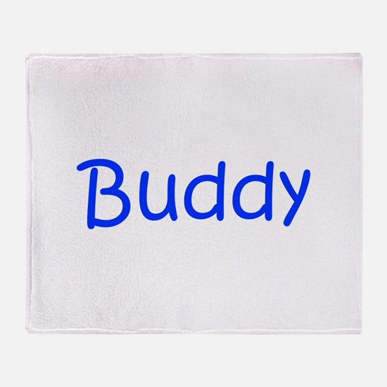 Buddy-kri blue Throw Blanket