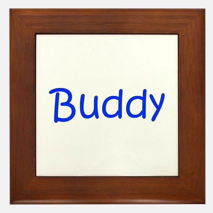 Buddy-kri blue Framed Tile