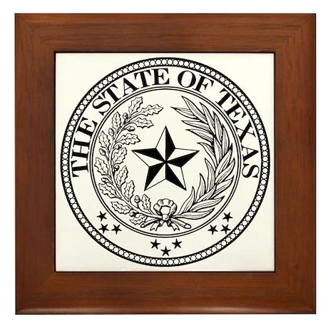 Texas State Seal Framed Tile
