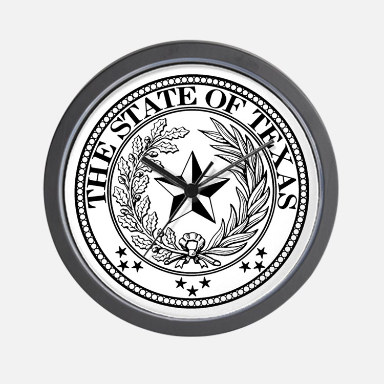 Texas State Seal Wall Clock